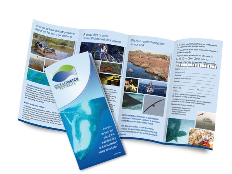 OceanWatch community donation brochure